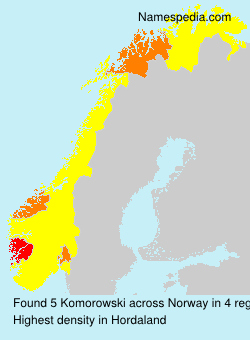 Familiennamen Komorowski - Norway