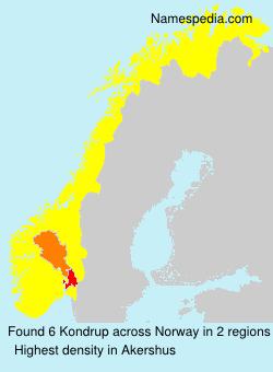 Surname Kondrup in Norway