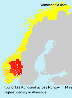 Surname Kongsrud in Norway