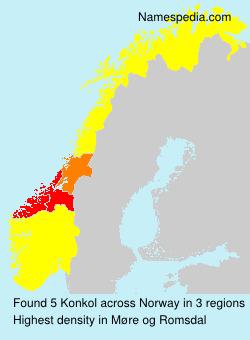 Familiennamen Konkol - Norway