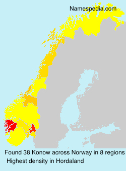 Surname Konow in Norway