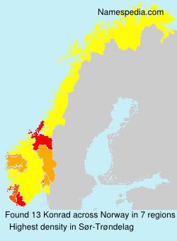 Surname Konrad in Norway