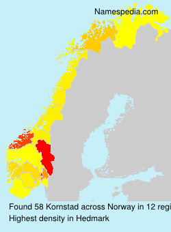 Surname Kornstad in Norway