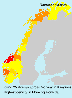 Familiennamen Korsan - Norway