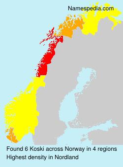Surname Koski in Norway