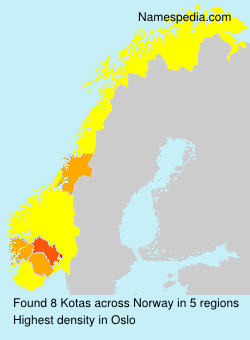 Surname Kotas in Norway