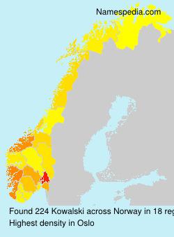 Surname Kowalski in Norway