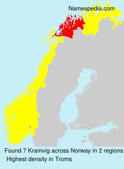 Familiennamen Kramvig - Norway