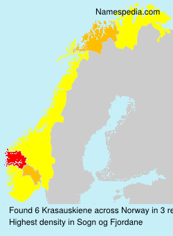Surname Krasauskiene in Norway
