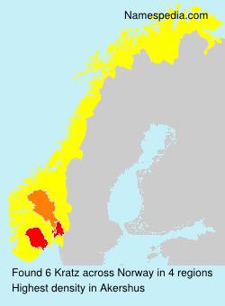 Familiennamen Kratz - Norway