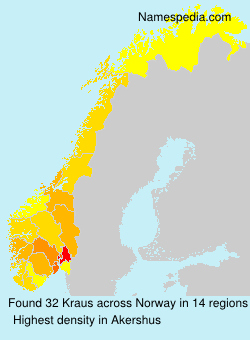Familiennamen Kraus - Norway