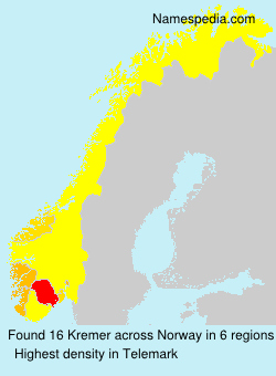 Surname Kremer in Norway