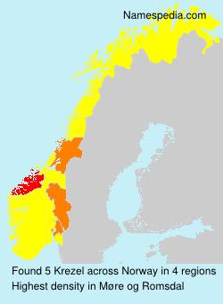 Surname Krezel in Norway