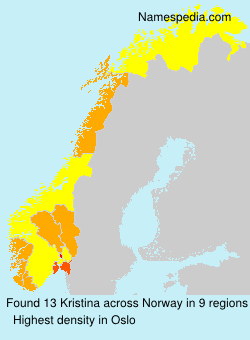 Surname Kristina in Norway