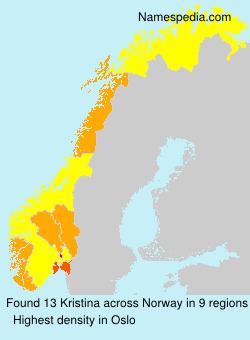 Surname Kristina in Norway