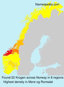 Surname Krogen in Norway