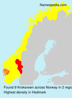 Surname Kroksveen in Norway
