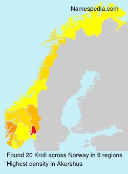 Familiennamen Kroll - Norway