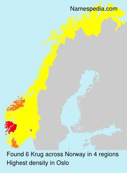 Surname Krug in Norway
