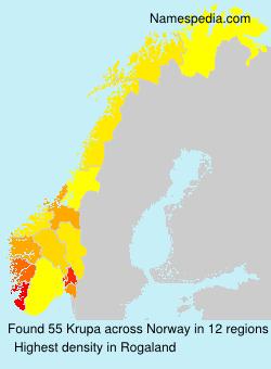 Surname Krupa in Norway