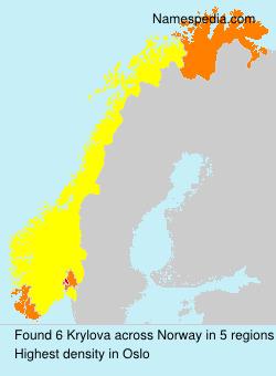 Surname Krylova in Norway
