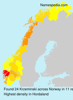 Familiennamen Krzeminski - Norway