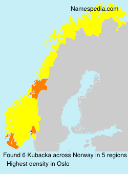 Surname Kubacka in Norway