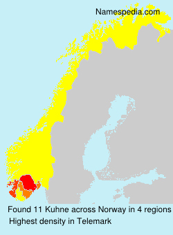 Familiennamen Kuhne - Norway