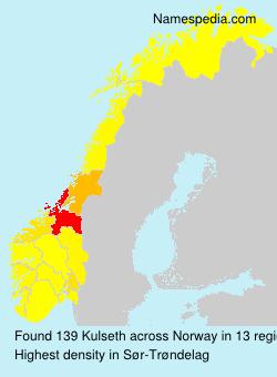 Surname Kulseth in Norway