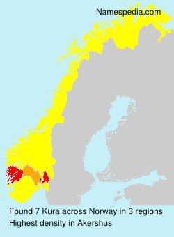 Surname Kura in Norway
