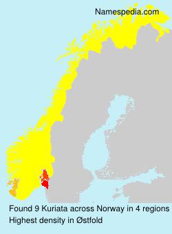 Surname Kuriata in Norway