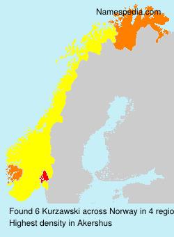 Surname Kurzawski in Norway