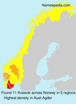 Surname Kvaavik in Norway