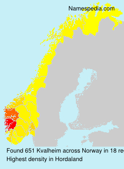 Surname Kvalheim in Norway
