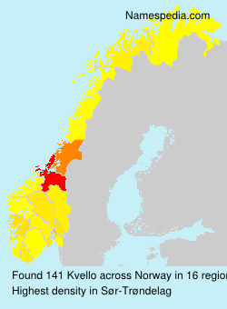 Surname Kvello in Norway