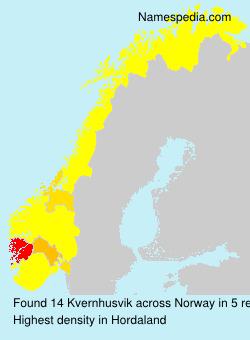 Familiennamen Kvernhusvik - Norway
