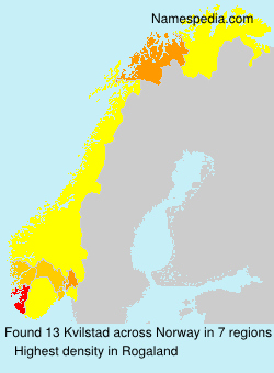 Surname Kvilstad in Norway