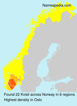 Surname Kvisli in Norway
