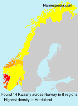 Surname Kwasny in Norway