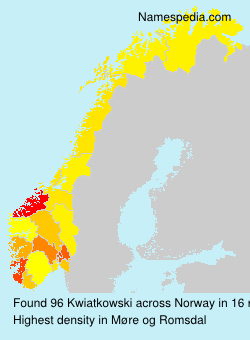 Surname Kwiatkowski in Norway