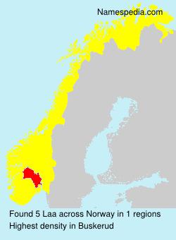 Surname Laa in Norway