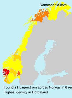 Familiennamen Lagerstrom - Norway