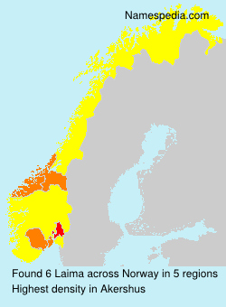 Surname Laima in Norway