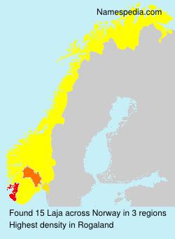 Surname Laja in Norway