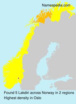 Surname Lakdiri in Norway