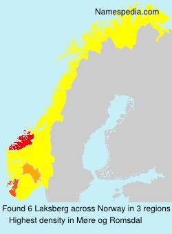Familiennamen Laksberg - Norway
