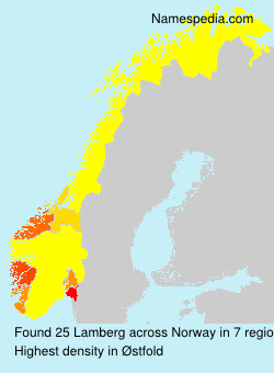 Surname Lamberg in Norway