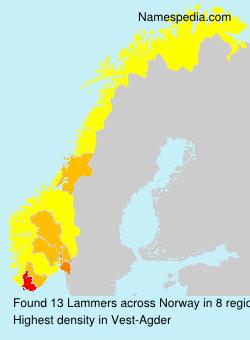 Surname Lammers in Norway