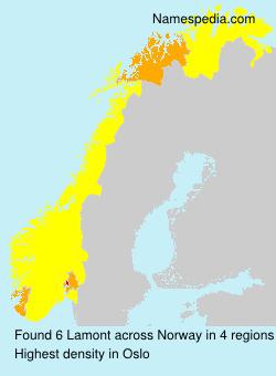 Familiennamen Lamont - Norway