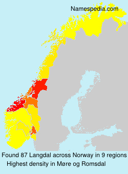 Surname Langdal in Norway